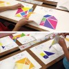 Wall Tangrams for Teachers: Family Art Night at Lamping Elementary, Las Vegas!