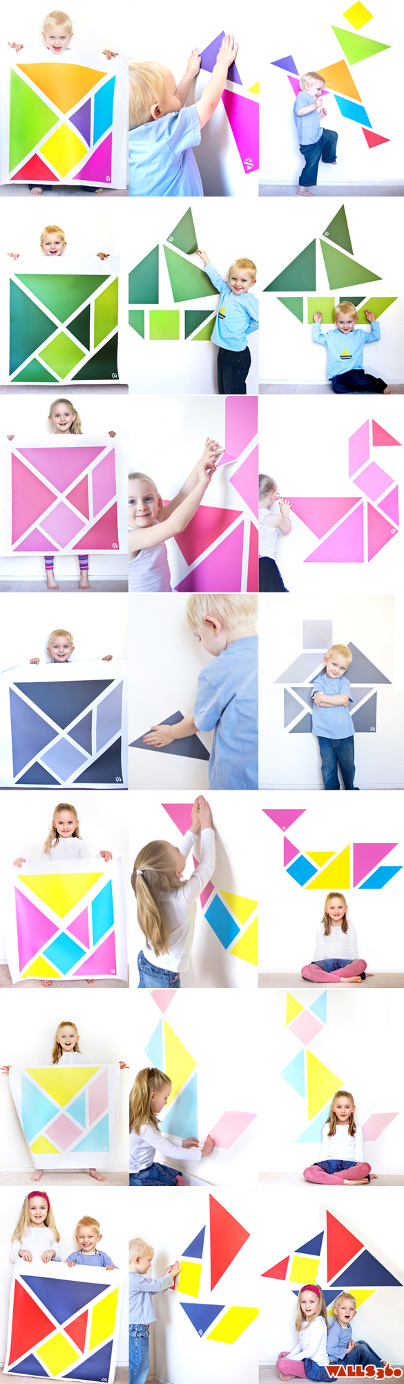 Wall Tangrams: Open Source Lesson Plans!