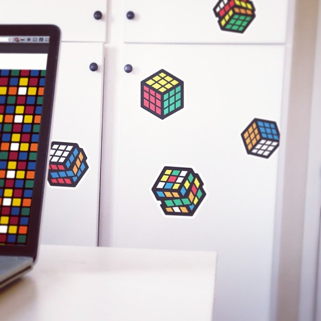 Rubik's Cube Re-Positionable Wall Graphics