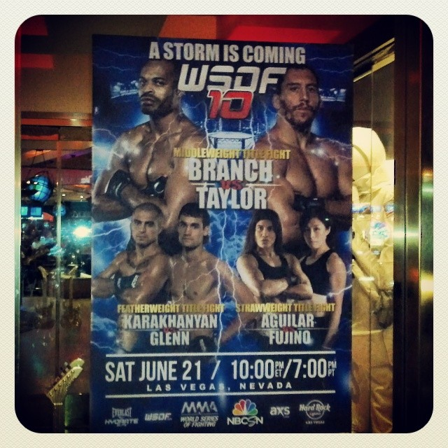 Custom Wall Graphics for the MMA World Series of Fighting #WSOF10 at the Hard Rock Hotel & Casino, Las Vegas